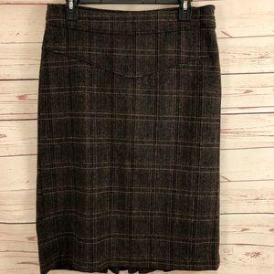 Banana Republic Wool Blend Pleated Skirt Size 6